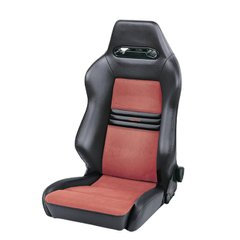 RECARO CROSS SPEED, спортивное сиденье, Vynil black / Dinamica red